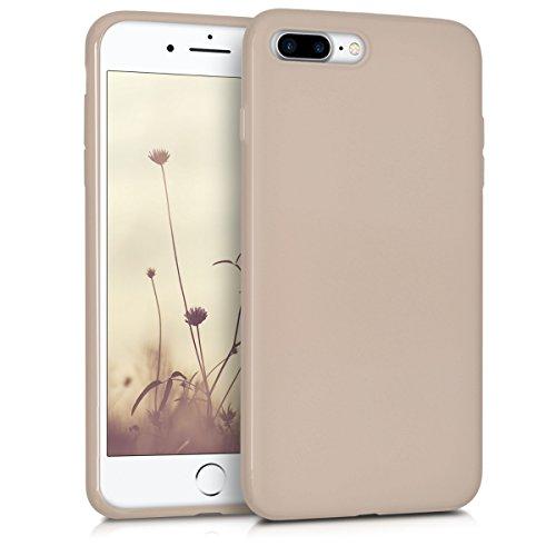 kwmobile Hülle kompatibel mit Apple iPhone 7 Plus / 8 Plus - Hülle Handyhülle - Handy Hülle in Beige matt