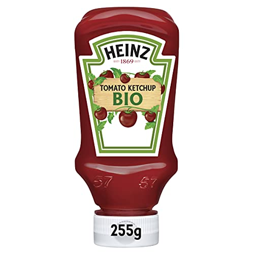 Heinz Tomato Ketchup Bio Top Down 255g (10 Confezioni)