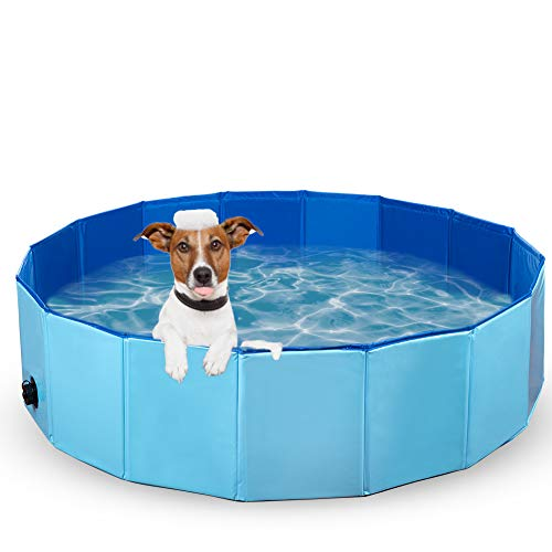 Dono Foldable Pet Bath Tub for Small to Large Sized Dogs Outdoor PVC Swimming Bathing Tub Kiddie Pool for Dogs and Cats and Kids