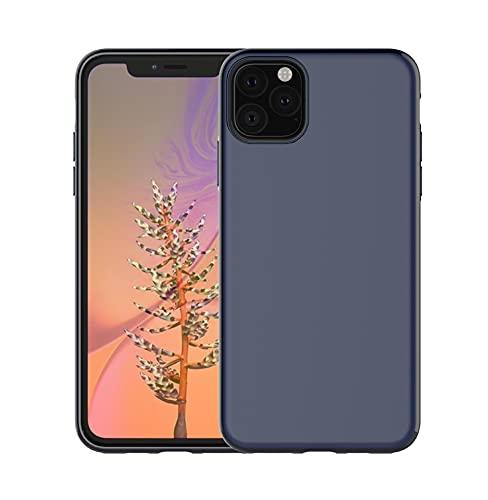 ZZKHFA Magnete Morbido TPU Antiurto Custodia Per IPhone SE 2020 11 Pro XS Max XR 8 7 6S Plus Cover Magnetica Ultra Sottile Telefono Dell'automobile (Colore: Blu, Materiale: Per iPhone 7 Plus)