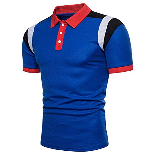 Heren kleur vrije tijd korte mouwen Modern Fashion Polo Daily casual shirt zomer mannen button revers polohemd tops basic