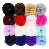 SUSULU Fuzzy Furry Artificial Rabbit Fur Faux Fur Hair Band Rope Hair...
