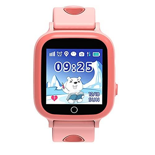 huanglanshangmao Wedby's Watch Phone Elementary y Middle School Students Genius Impermeable Tarjeta a Prueba de Agua no localiza los Relojes for niños y niñas for niñas móviles (Color : A)