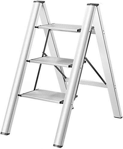 GUOXY Stufenleiter Folding Trittleiter Aus Aluminium Trittschemel Leiter Multifunktionale Zusammenklappbarer Leiter Hocker Multi-Purpose Scaffold Leitern Heavy Duty Treppenstehleiter Mehrzweck Scaffo