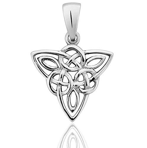 DTPsilver - Damen - Anhänger 925 Sterling Silber Keltisch Trinity Knoten Triangle