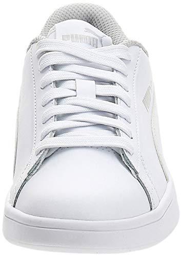 PUMA Smash v2 L Jr, Zapatillas Bajas Unisex Adulto, Blanco White White, 37.5 EU