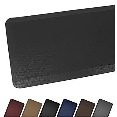 Sky Mat, Comfort Anti Fatigue Mat, Perfect for Kitchens and Standing Desks, 7 Colors, 3 sizes, 20 x 32 x 3/4  (Black)