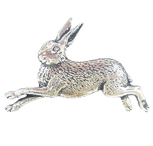 rennender Hase - handgemacht in UK Zinn Abzeichen