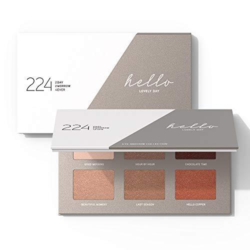 224 Cosmetics Paleta de sombras de ojos Hello Lovely Day - natural, vegano...