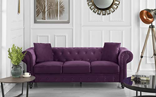 Divano Roma Classic Sofas, Large, Purple