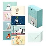 モノライク メッセージカード ミニカード ビーフレンド·バージョン2 Message card Befriend ver.2-40枚封筒20枚セットミニサイズデザイン文具お祝いのカード感謝カード