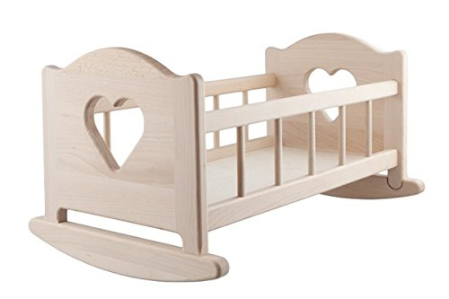 Doll's Wooden Rocking Cradle