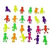 YeahiBaby 24PCS TPR Figuras de acción de Esqueleto Humano Flexible Coloreado Juguetes a Granel para ...