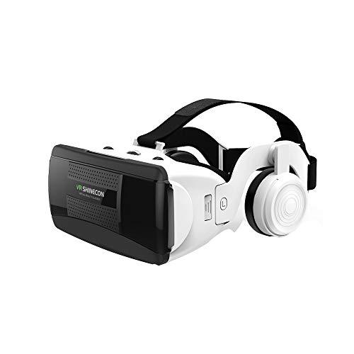 JTY Virtual Reality Headset, 3D Virtuele Bril AR/VR Headset Perfect werken met Max Size Smartphones Eye-Safe Verstelbare HD Kwaliteit Lenzen