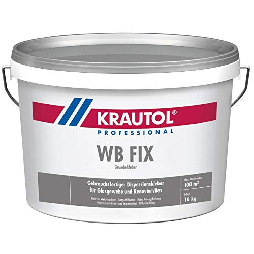 Krautol GewebekleberWB FIX, gebrauchsfertiger Dispersionskleber Glasgewebekleber, 16 kg