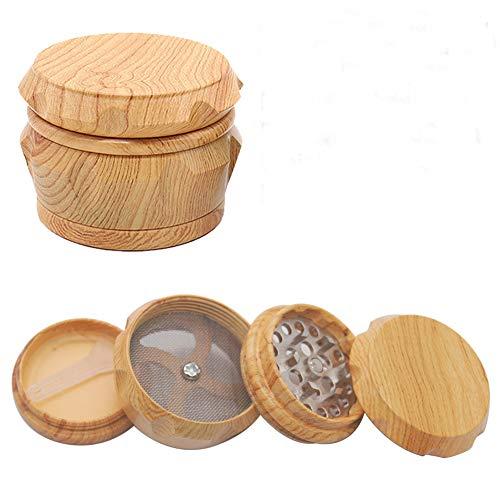 WowoHK Pollen Grinder Crusher für Spice,Kräuter,Gewürze,Herb,Kaffee 4-teiliges Set mit Pollen Scraper (No:3, Durchmesser: 4cm (1.57