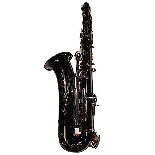 GAOXUQIANG C Melody Sax Schwarz Nickel-Saxophon mit Fall Holzmusikinstrumente Profis