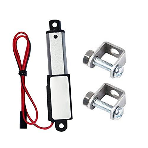 Actuador micro lineal Mini eléctrico impermeable con soportes de montaje 12V 60N Longitud de carrera 30 mm Velocidad 15mm Utilidad