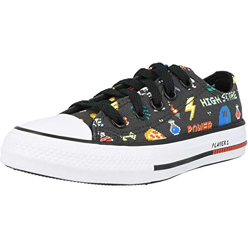 Converse Chuck Taylor All Star Ox Gamer Negro/Negro (Storm Wind/Black) Tela 29 EU
