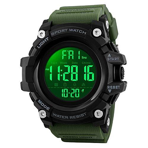 LCNINGZNSB EX16Plus 5TAM Impermeabile Smartwatch Camouflage Bluetooth Smart Orologio Sveglia all-Day Activity Tracker Fitness Orologi Uomo (Colore : Verde)