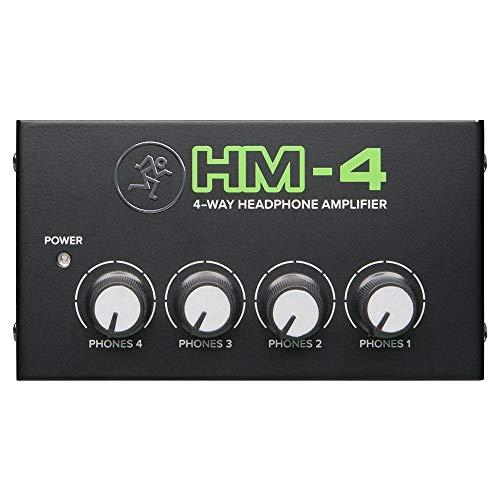 Mackie HM-4 - Amplificatore Professionale per Cuffia a 4 Vie, Nero
