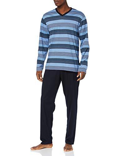 Trigema Herren 637769119S Zweiteiliger Schlafanzug, Blau (Sky 141), (Herstellergröße: XX-Large)