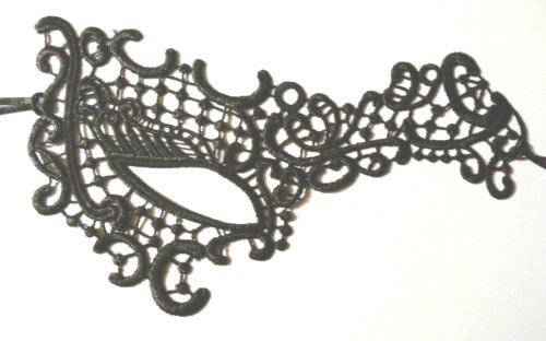 Life Is Good En dentelle noire sexy demi visage fantôme masque Carnaval Bal Masqué