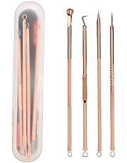 Zestaw 4 igieł ze stali nierdzewnej w kolorze różowego złota, z podwójną głowicą