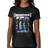 Avis N Women's Paramore Rainbow T Shirts Black M