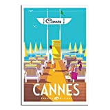 Vintage-Reise-Poster, Cannes Strand, Schlafzimmer,