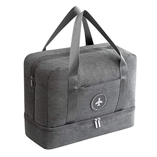 Gym Bag Fitness Tasche Calvinbi Damen Herren Sporttasche Leichte Gefaltet Reisetasche Handtasche Strandtasche Badetasche Trockene und nasse Trennung