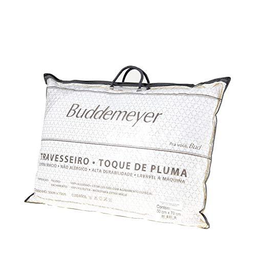 Travesseiro Toque de Pluma, Avulso, 50x70 cm, , Branco, Buddemeyer