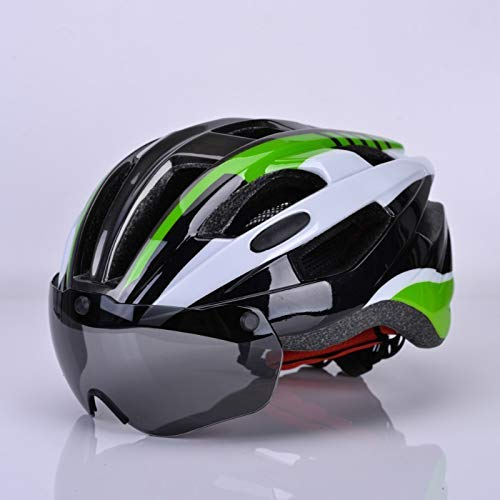 Casco de bicicleta, casco de la bicicleta MTB Casco Gafas de carretera...