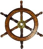 Ectoria timone di legno: pirata barca ruota nautico pesca 15