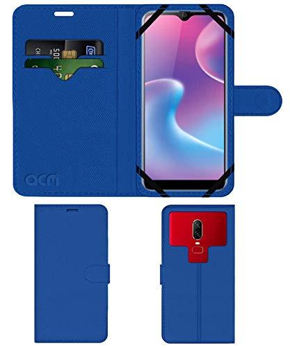 Acm Strap Leather Flip Case Compatible with Karbonn Titanium S9 Plus Mobile Front & Back Cover Blue