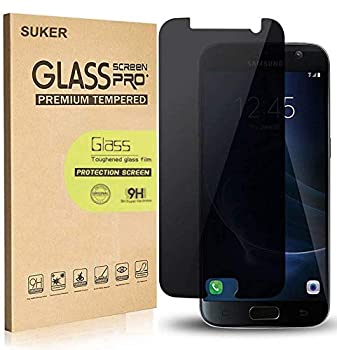 [2-Pack] for Galaxy S7 Privacy Anti-Spy Tempered Glass Screen Protector,SUKER[9H Hardness][Anti-Fingerprint][Scratch-Resistant] Tempered Glass Screen Protector for Samsung Galaxy S7