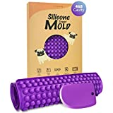 YIGWANG 468-Cavity Silicone Molds for Dog Treats, Chocolate Chip Mold, the Easiest Way to Make Homemade Mini Dog Training Treat, with Scraper & Treat Recipes for Beginner