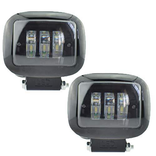 Phares de moto LED, phare antibrouillard, phare de moto 12v 2000lm 6500K éclairage auxiliaire blanc, 2PCS