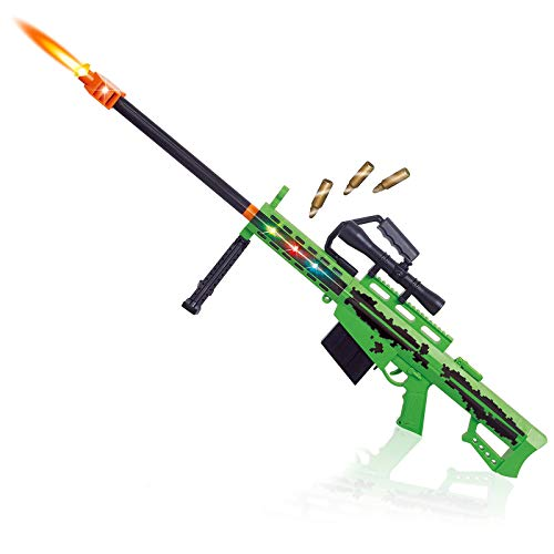 Liberty Imports Elite Tactical Force AWM Sniper Rifle Military Action 1:1 Scale Toy Machine Gun with Target Scope, Magazine, Bullets, Lights and Realistic Sounds (42 Inches)