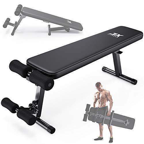 JX FITNESS Banco de Musculación Ajustable Multifuncional de Casa Banco de Entrenamiento de Fitness (Negro)