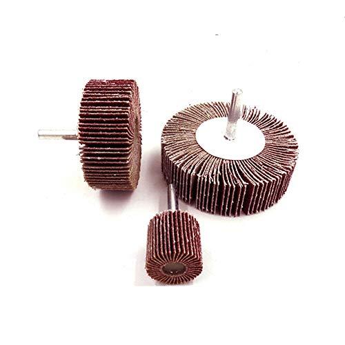 SUPERTOOL Lijadora abrasiva para rueda de solapa, 5 unidades, 25 mm, disco de lija de lija de grano 80, vástago de 6 mm para herramientas rotativas