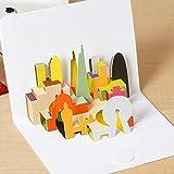 6Pcs 3D Carving Stereo Card Tarjeta De Felicitación Para Niños Regalo De Cumpleaños De Navidad Gracias Invitación Bendición Postal Con Sobre C