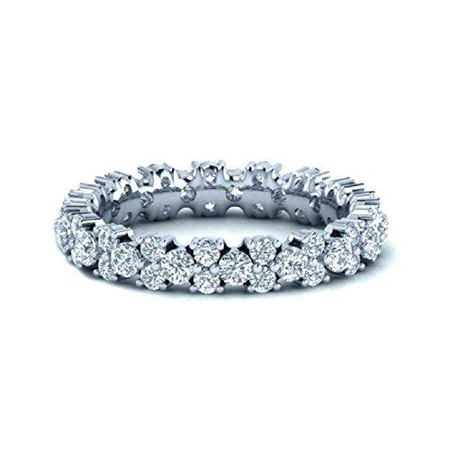 1.00 Carat Round Diamonds Garland Full Eternity Ring in White Gold (P)