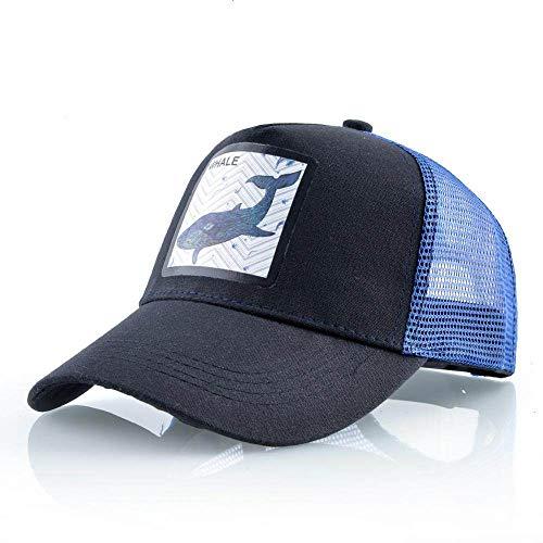 ZHYAODAI Verano Unisex Ballena Animal Print Gorra Ajustable,Hip Hop Transpirable Malla Azul Hat,Calle Deportes Outdoor Viajes Ocasionales Hat Visera Adulto Sombrero para El Sol