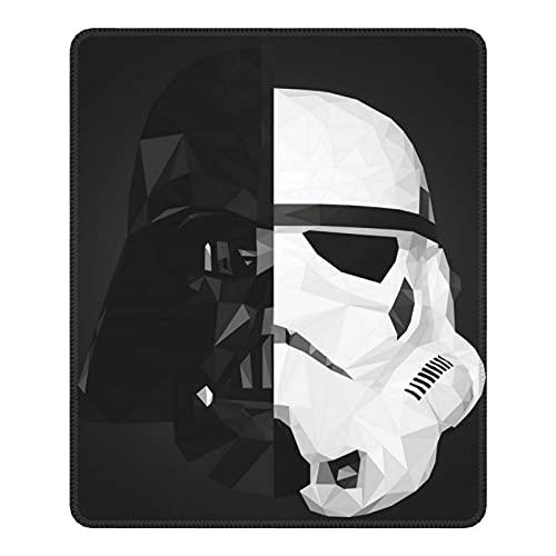 Alfombrilla de ratón Darth Vader Stormtrooper Baby Yoda Star The Wars Mandalorian Mouse Pad con base de goma antideslizante bordes cosidos para ordenadores, portátiles, oficina y hogar