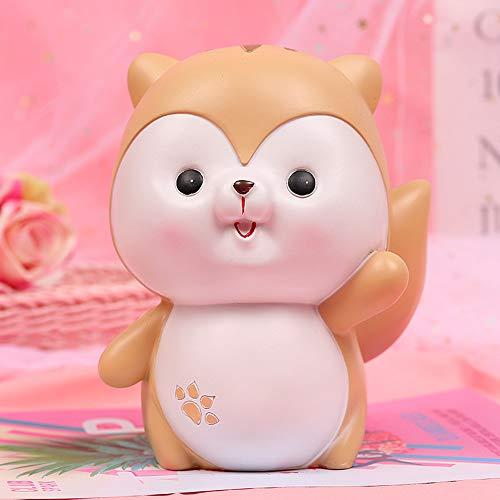 HIL Cartoon Piggy Bank, schattige spaarvarken, met hoge capaciteit hars muntbox, desktopdecoratie, New Year geschenken, kerstcadeaus, kinderverjaardagscadeaus