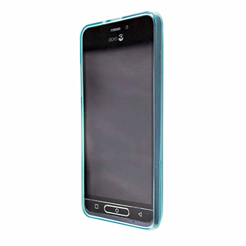 caseroxx TPU-Hülle für Doro 8035, Hülle mit & ohne Bildschirmschutzfolie (TPU-Hülle, blau)