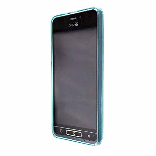 caseroxx TPU-Hülle für Doro 8035, Tasche mit & ohne Bildschirmschutzfolie (TPU-Hülle, hellblau)