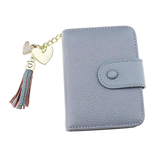 Lady Leather Credit Card Houder ID Portemonnee Business Mini Buidelzak Houder Case Zwart/Blauw/Roze