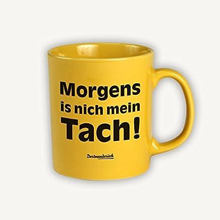 Dortmunderisch Tasse Kaffeebecher gelb Morgens - preisvergleich